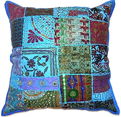Decorative Turquoise Blue (U1520) Zip Cushion Cover 16x16