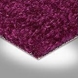 BODENMEISTER BM72182 Teppichboden Auslegware Meterware Hochflor Shaggy Langflor Velour lila 400 cm und 500 cm breit, verschiedene Längen, Variante: 3,5 x 4 m