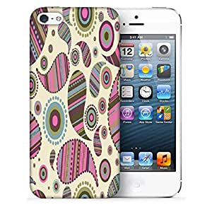 Snoogg Multicolor Pattern Designer Protective Phone Back Case Cover for Apple iPhone SE