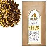 EDEL KRAUT | BIO KURKUMA-WURZEL (gemahlen) Curcuma PULVER - für Smoothies, Goldene Milch, Pasten, Kurkuma Latte u.v.m - 1000g