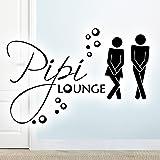 Wandora WC deursticker man & vrouw PIPI Lounge I zwart (B x H) 17 x 11 cm I badkamer badkamer sticker sticker sticker zelfkle