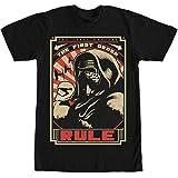 Star Wars VII: The Force Awakens Troop Lineup Camiseta Negra Para Hombres
