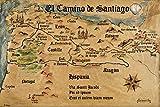 1art1 88593 Jakobsweg - EL Camino De Santiago Anno 1445,