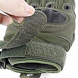 Unigear Taktische Handschuhe mit Klettverschluss Motorrad Handschuhe Army Gloves Sporthandschuhe geeignet für Motorräder Skifahren, Militär, Airsoft (Grün-Voll, M) - 5