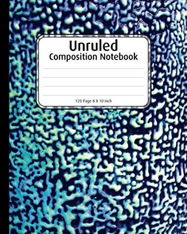 Unruled Composition Notebook: Blue Cheetah Print Blank Notebook, 8 x 10 inch,: composition book for school, college wireless notebook, note-taking for writing in your idea