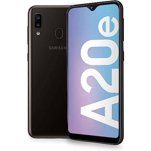 "Samsung Galaxy A20e Smartphone, Display 5.8"" HD+, 32 GB Espandibili, RAM 3 GB, Batteria 3000 mAh, 4G, Dual SIM, Android 9 Pie, [Versione Italiana], Black"