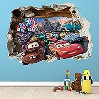Disney Cars Smashed–Adhesivo de pared Dormitorio Niños Niñas vinilo pared arte