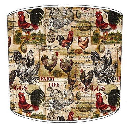 8pollici soffitto Pollo Stampa paralume 7, plastica metallo, Multicolore, ca. 20 cm