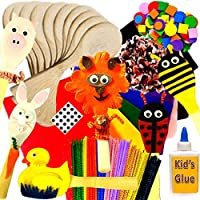 Amazing Arts and Crafts New Animals Wooden Spoon Kit Class Pack of 10