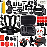 immagine prodotto Leknes 54 in 1 Accessori Kit per GoPro Hero 5 4 3+ 3 2 1 Black Silver and SJCAM SJ4000 SJ5000 SJ6000 Action Camera Accessories per Lightdow/Xiaomi Yi/WiMiUS/DBPOWER