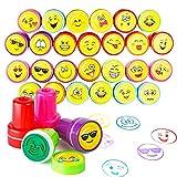 36 Tampons Smiley Emoji Enfants Tampon Encreur - IDéal Pour Les Pochettes-Surprise, Birthday Party Favours, Les Enseignants Cadeaux Timbres Jouets - Cadeau Invités, Fête Jouets, Remplissage De Piñata