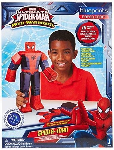 Preisvergleich Produktbild Jazwares 12811 - Blueprints Marvel Papier Bastelset Spiderman, groß, 30 cm