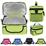 28X17X18Cm Oxford Lunch Tote Cooler Backpack Insulated Picnic Bag For Camping Travel Equipment