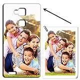 Mixroom - Cover Personalizzata con La Tua Foto Custodia Case in TPU Silicone Morbido per Huawei Ascend Mate 7