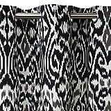 Madura Rideau à Oeillets ISTANBUL Blanc/Noir 145 x 280 cm