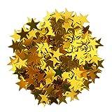 Sharplace 15g Streudeko Konfetti Hochzeit Stern Klein Metallisch Tischdeko Party Weihnachten - Gold, 10mm