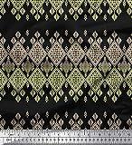 Soimoi Gelb Samt Stoff aztekisch südwestlich Stoff drucken