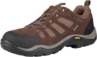 Mountain Warehouse Field Mens Waterproof Wide Fit Shoes - Vibram Sole Walking Shoes, Suede & Mesh Upper Hiking Shoes, Quick Drying Rain Shoes - for Running, Travelling
