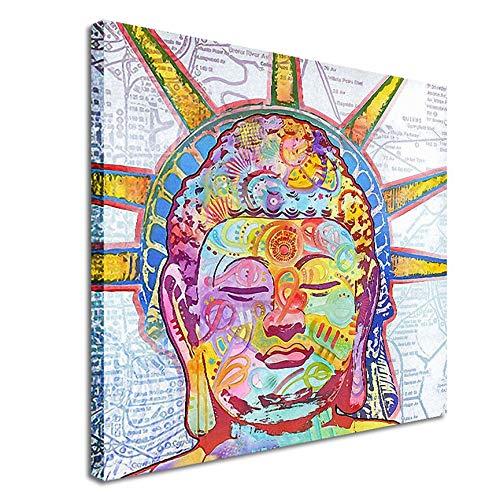 VCB 11404 kostenlose Buddha statuen Muster Dekoration leinwand gedruckt wandbild Multicolor (l) -