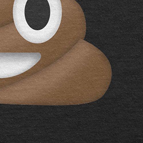 Texlab–Poo Emoji–sacchetto di stoffa Nero