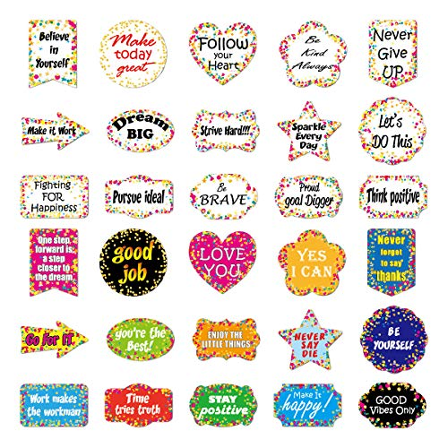 XNFIVE Inspirierende Aufkleber, 30 Stück Motivierend Aufkleber Wasserdicht Vinyl Graffiti Sticker Decals Laptop Aufkleber Stickerbomb für Wasserflasche Phone Autos Motorrad Fahrrad Skateboard Gepäck