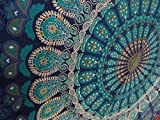Craftozone Multicolored Mandala Tapestry Indian Wall Hanging, Bed Sheet, Comforter Picnic Beach Sheet, Quality Hippie
