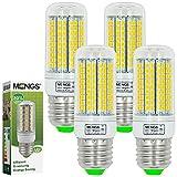 MENGS® Pack de 4 Bombilla lámpara LED 15 Watt E27, 180x2835 SMD, blanca cálida 3000K, AC 220-240v