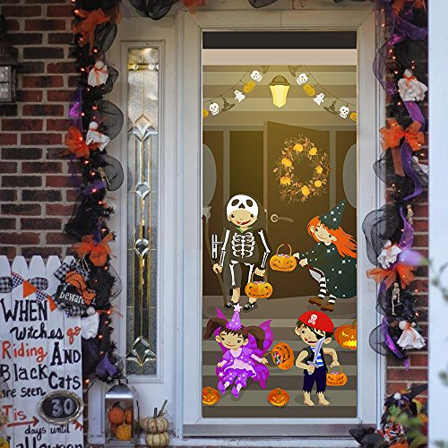 3D Aufkleber 3D Kreative Aufkleber Nachahmung 3D Wandaufkleber Tür Aufkleber Halloween Halloween Party Europa Und Amerika Einfach
