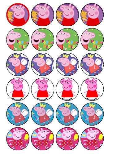Peppa Pig Lot de 24 décorations de cupcakes #2