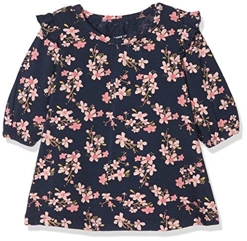 NAME IT Baby-Mädchen Kleid Nbfdakka LS Dress, Mehrfarbig (Dress Blues), 74
