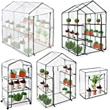 Jago Compact Greenhouse Garden Terrace Balcony Plants PVC Growhouse (0.45 m³)