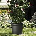 EURO3PLAST Pflanzkübel Geo, 40 x 30 cm anthrazit von Gardman auf Du und dein Garten