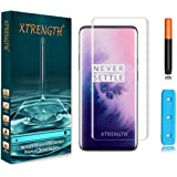 XTRENGTH's 9H+ Curved UV Tempered Glass Designed for OnePlus 7 Pro / 1+7 Pro Advanced Border-Less Edge to Edge Screen…