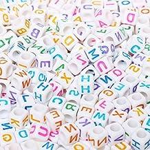 """Letra perlas, Nokia Lumia 1320500unidades 6* 6mm mezcla cuentas de colores Carta Beads Mixed para bisutería """"a-z cubo cuentas para pulseras, collares, cadenas de clave y joyas para niños"""