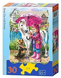 CASTORLAND Rainy Day with Friends 30 pcs Contour Puzzle 30 Pieza(s) - Rompecabezas (Contour Puzzle, Dibujos, Preescolar, Niño/niña, 4 año(s), Interior)