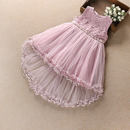 XIAOHUAHUA Big Boy Mädchen Sommer Kleid Rock Im Sommer Kleid Gaze Mädchen Prinzessin Kleid, Pink, 130 Cm (Gaze-big-shirt)