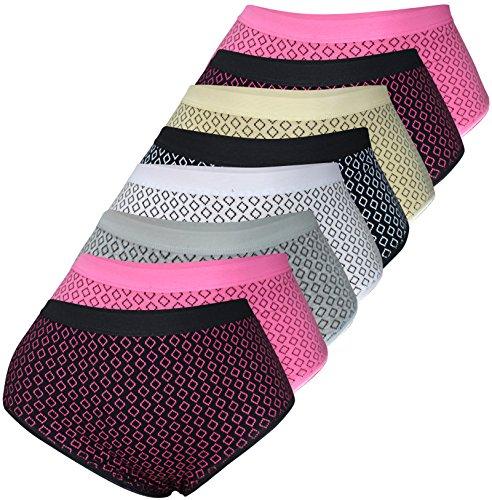 PiriModa 8er Pack Damen Baumwolle Übergröße Unterhose Gr 40-62 Top Qualität (Modell 9, 48/50)