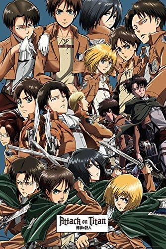 Foto de Empire merchandising 672230 Attack on Titan, Collage, manga ataque de anime en la mayoría de Titanes Póster, 61 x 91,5 cm de tamaño