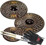 Meinl Classics Custom Dark Becken-Set CCD141620 + MEINL MDG Drummer Handschuhe Gr L + Keepdrum Drumsticks