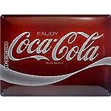 Nostalgic-Art Cartel de chapa retro Coca-Cola – Logo Lights – Idea de regalo aficionados a la Coke, metálico, Diseño vintage