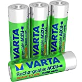Varta Rechargeable Ready2Use Mignon vorgeladen Ni-Mh Akku (AA, 2400mAh, 4-er Pack, wiederaufladbar ohne Memory-Effekt - sofort einsatzbereit, inklusive Aufbewahrungsbox)