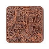 Taipeh Stadtplan Untersetzer,ein Stück, Any Combination of Multiple city Optional, Sapele wooden coaster with city map