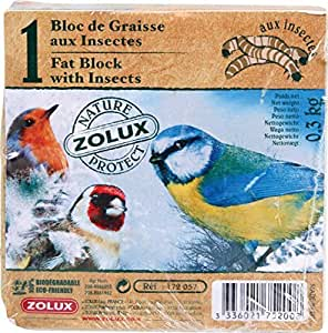 Bloc de graisse aux insectes 300 g pour oiseaux du ciel/NATURE PROTECT (vendu sans distributeur, pensez à le commander)