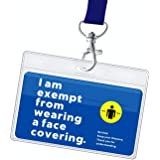 Face Mask Exemption Lanyard with Card Holder | 1pc Card, 1pc Lanyard and 1pc Card Holder | Hidden Disability Lanyard Card | W
