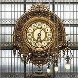 Poster 100 x 100 cm: Große Uhr im Musee D'Orsay in Paris, Frankreich von Jan Christopher Becke - hochwertiger Kunstdruck, Kunstposter