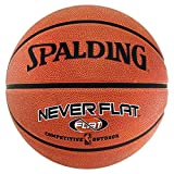 Spalding Basketball Ball Nba Neverflat Ball, orange, 7, 3001562013017