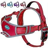 ThinkPet No Pull Harness Ademend Sport Harnas - Escape Proof/Quick Fit Reflecterende Gevoerde Hond Veiligheid Vest met Handva