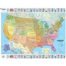 Amazon mappa stati uniti damerica libri usa politica 13850000 carta plastificata thecheapjerseys Choice Image