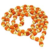 Odishabazaar Rudraksha Rudraksh 5 Mukhi Japa Mala Rosary With Golden Cap Hindu MeditationYoga at amazon