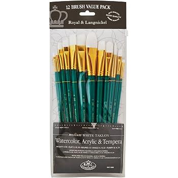 Royal And Langnickel Rset-9311 Long Handle Taklon Variety Brush Set Art Supplies Crafts Medium Of